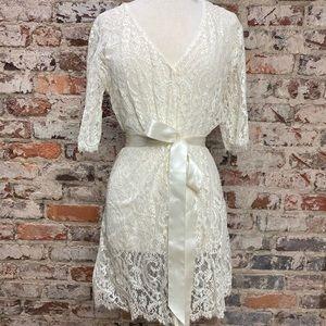 Bridal lace robe NWT